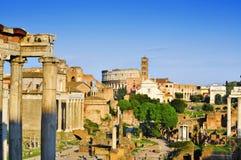 Romański forum w Rzym, Włochy Obrazy Royalty Free