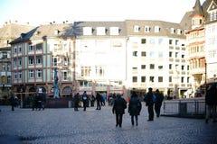 Romański Halny Frankfurt przeciw światłu Obrazy Royalty Free