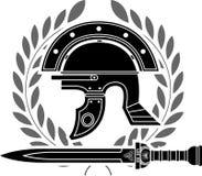 Romański hełm royalty ilustracja