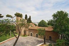 Romański kościół w Poble Espanyol, Barcelona Zdjęcia Royalty Free