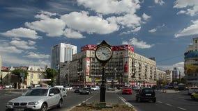 Romański kwadrat W Bucharest zdjęcie wideo