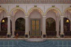 Romański luksusowy pływacki basen Obraz Royalty Free