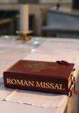 Romański mszał na ołtarzu w Galway, Irlandia obraz royalty free