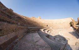 Romański Odeon w antycznym Nikopolis Preveza Grecja zdjęcie royalty free