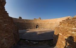 Romański Odeon w antycznym Nikopolis Preveza Grecja zdjęcia stock
