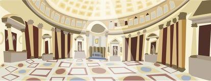 Romański panteonu wektor ilustracja wektor