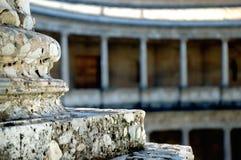Romański szpaltowy temat, zbliżenie, A Zdjęcia Stock