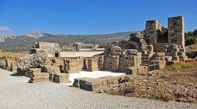 Romański teatr Baelo Claudia, Tarifa, Cadiz prowincja, Hiszpania zdjęcia stock