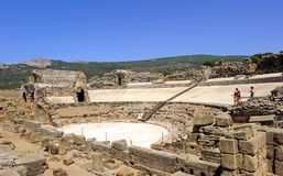 Romański teatr Baelo Claudia, Tarifa, Cadiz prowincja, Hiszpania obrazy stock