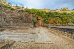 Romański teatr fourviere, Lion stary miasteczko, Francja obraz stock