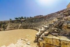 Romański teatr i krzyżowa kasztel, Tzipori Sepphoris park narodowy zdjęcia royalty free