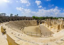 Romański teatr w antycznym mieście zakład Shean zdjęcie royalty free
