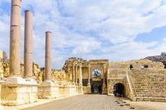 Romański teatr w antycznym mieście zakład Shean fotografia royalty free
