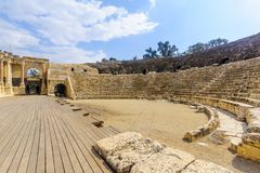 Romański teatr w antycznym mieście zakład Shean zdjęcia royalty free