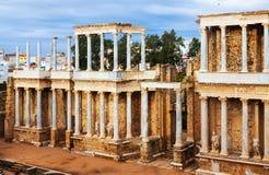 Romański Theatre przy Merida Extremadura, Hiszpania Fotografia Stock