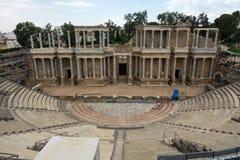Romański Theatre w Romańskim mieście Emerita Augusta, kapitał Lusitania fotografia stock
