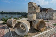 Romański wojskowy roszuje Dimum na Danube rzece, Bulgaria obrazy royalty free