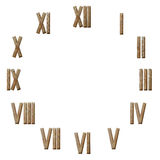 Romańskich liczebników zegar odizolowywający na bielu Obrazy Royalty Free
