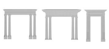 Romańskie kolumny obramiać w łuku Fotografia Stock