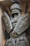 Romańskiego wojownika brązowa rzeźba Obrazy Royalty Free