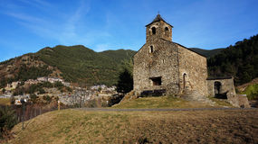 Romańszczyzna kościół St Cristopher, Andorra Zdjęcia Royalty Free