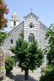 Romańszczyzna kościół St Lawrance przy Portovenere, Włochy Zdjęcie Stock