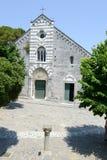 Romańszczyzna kościół St Lawrance przy Portovenere, Włochy Obrazy Stock