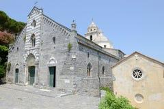 Romańszczyzna kościół St Lawrance przy Portovenere, Włochy Zdjęcie Royalty Free
