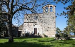 Romańszczyzna kościół St Nicholas, Włochy - Obraz Stock