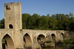 Romańszczyzna most w frias zdjęcia stock