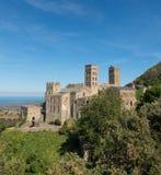 Romańszczyzny opactwo Sant Pere De Rodes Girona, Catalonia zdjęcie stock
