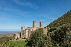 Romańszczyzny opactwo Sant Pere De Rodes Girona, Catalonia obraz stock