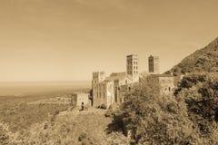 Romańszczyzny opactwo Sant Pere De Rodes Girona, Catalonia zdjęcia royalty free