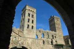 Romańszczyzny opactwo Sant Pere De Rodes w zarządzie miasta, zdjęcie royalty free