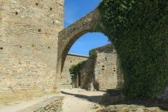 Romańszczyzny opactwo Sant Pere De Rodes w zarządzie miasta, zdjęcia stock