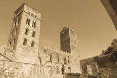Romańszczyzny opactwo Sant Pere De Rodes w zarządzie miasta, obrazy stock