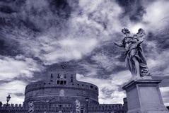 Roma, ángel del santo del castillo Imagen de archivo libre de regalías