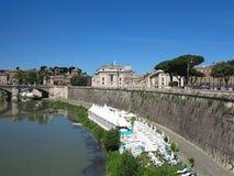 19 06 2017, Roma, Италия: Мост Angelo ` Sant к Hadrian Maus Стоковое Фото