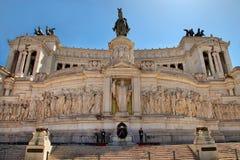 ROMA, ИТАЛИЯ, 11-ОЕ АПРЕЛЯ 2016: Аркада Venezia и Monumento Nazio Стоковое фото RF