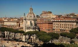 ROMA, ИТАЛИЯ, 11-ОЕ АПРЕЛЯ 2016: Взгляд от балкона нации стоковая фотография
