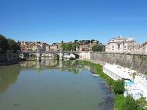 19 06 2017, Roma, Италия: Мост Angelo ` Sant к Hadrian Maus Стоковые Фотографии RF