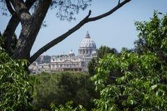 Roma настилает крышу wiew стоковые изображения rf