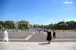 Roma. Piazza san giovanni in Roma Royalty Free Stock Images