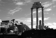 Roma. Ancient roman ruins of the imperial forums roma Stock Image