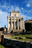 Roma. Ancient roman ruins of the imperial forums roma Royalty Free Stock Images