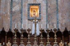 Roma, altare dentro il panteon Fotografia Stock