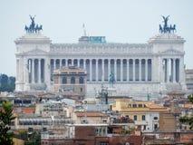 Roma - altare di Patria da Pincio Fotografia Stock Libera da Diritti