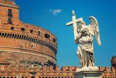 Roma - angelo e castello di SantAngelo Immagini Stock