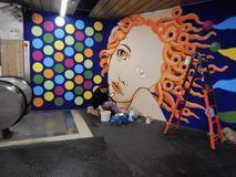 Roma - artista en el subterráneo Imagen de archivo libre de regalías