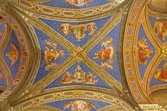 Roma - azotea de la iglesia de Minerva del sopra de Santa María Foto de archivo libre de regalías